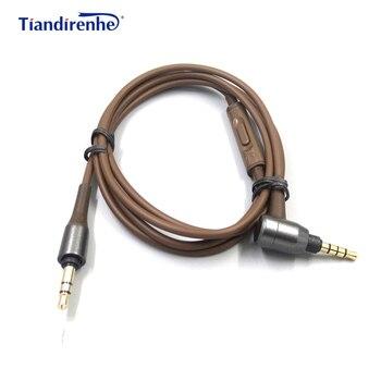 오디오 테크니카 용 헤드폰 케이블 ATH-MSR7 3.5mm 남성-남성 스테레오 오디오 케이블 ath msr7 원격 제어 케이블 코드