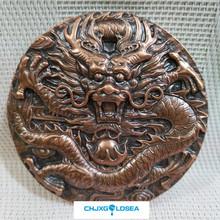 Zodiaku smok brązowy medal odznaka tłoczone smok back smok i feniks Chengxiang czysta miedź statua prezent prezent tanie tanio Europa CHJXGOLDSEA Patriotyzmu Tradycyjny chiński Metal