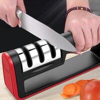 Eworld Professional 3 этапа нож точилка нож шлифовальный станок нескользящий Силиконовый Резиновый Быстрый нож заточка для кухни инструменты