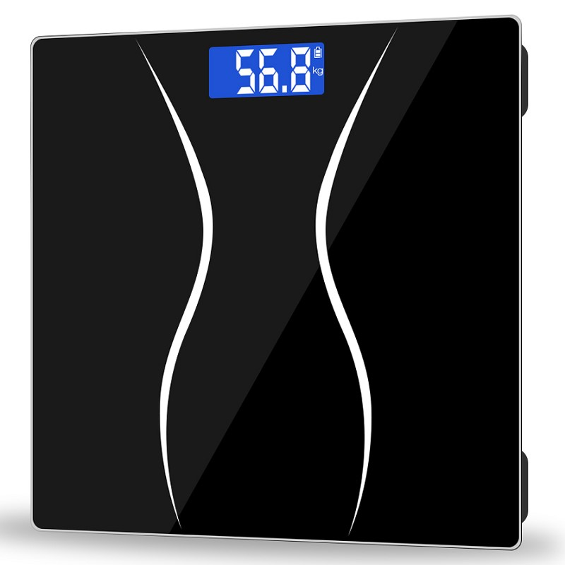 K2 Lcd Balance Gewicht Digital Waage 0,2 ~ 180 Kg 260x260x27mm Aaa Batterien Gehärtetem Glas Bad Boden Elektronische Gewicht Waagen Haus & Garten Bad Produkte