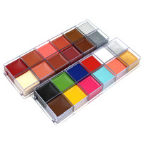 11 12 12 Colors Flash Tattoo Face Body Paint Oil Art Halloween Christmas Party Fancy Dress