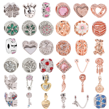 New 1pc Silver 925 Love Coffee Spacer Clip DIY Rose gold Bead Fits Pandora Charms Original Bracelet For Women Mix