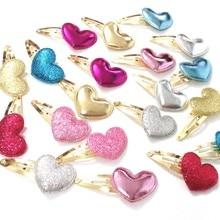 цены 2Pair Girls Hair Clips Girls Heart Twinkling Hairpins Shiny For Lovely Children Girls Children Hair Accessories
