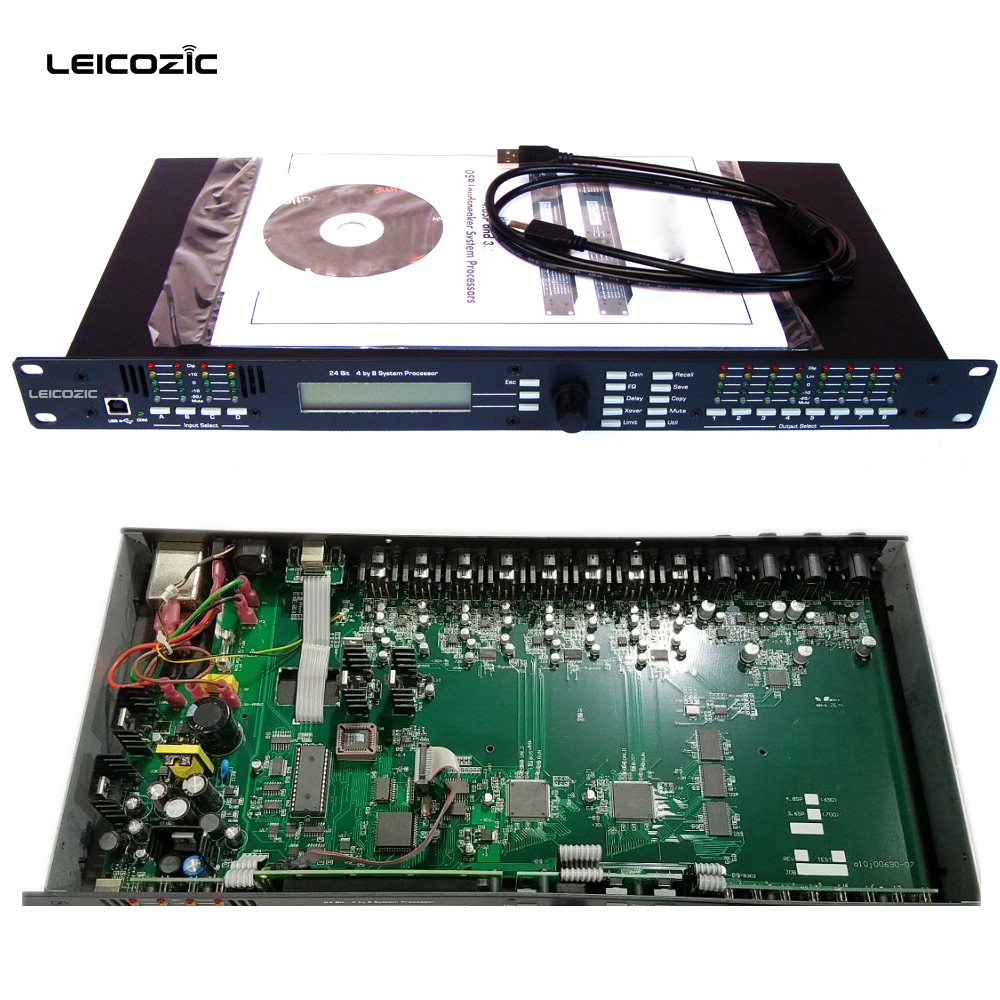 Leicozic 4.8SP 4in/8out Digital processor 4.8sp dsp procesador dsp audio sound processor audio speaker management Free shipping car sound processor for ford f150 pickup car general sound processor audio tuner dsp