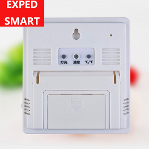 Image 2 - מקורה LCD דקות שעון טמפרטורת לחות מד מדחום הדיגיטלי LCD thermo מדדי לחות