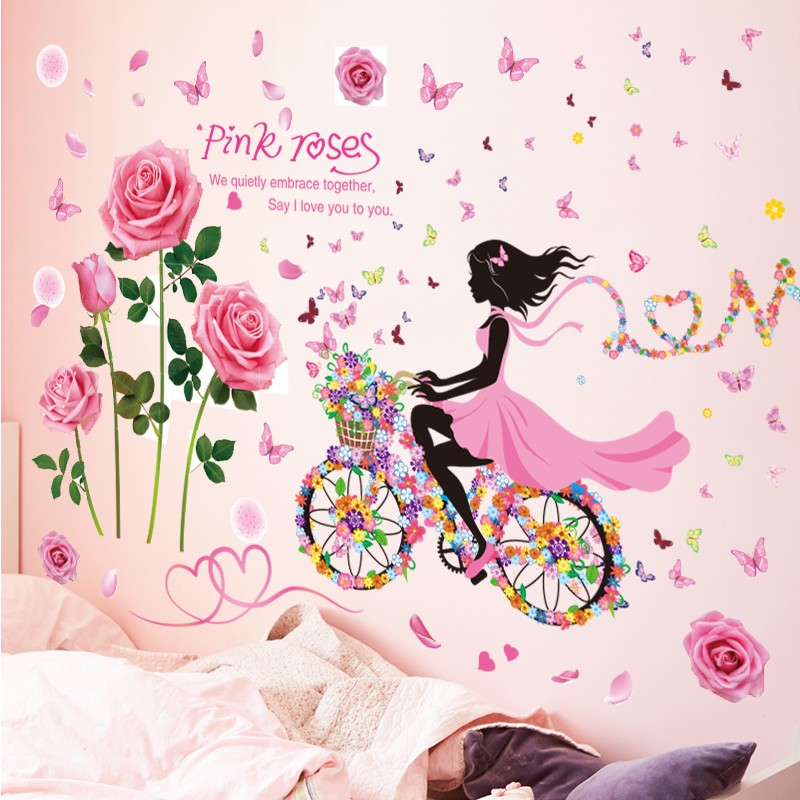 Diy Wall Stickers Pvc Large Large Wall Sticker Pink