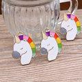 Nuevo Diseño 30 unids/lote Aleación Colorido gota de aceite Dorado Animales Unicornio de Dibujos Animados cabezas Forma Dijes de metal Colgantes de La Joyería Diy