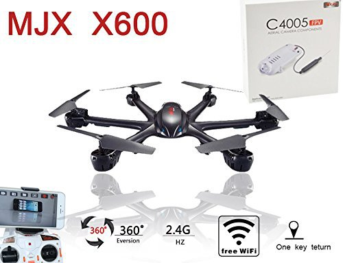 MJX X600C 2.4G RC Drone Hexacopter 6 Axis Gyro UAV 3D Roll Auto Return Headless Helicopter with HD C4005 0.3MP Camera mini drone rc helicopter quadrocopter headless model drons remote control toys for kids dron copter vs jjrc h36 rc drone hobbies