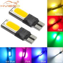 4X Auto Car Parking Bulbs Turn Signal License Plate Light Side Marker Reading Lamp T10 Wedge LED Canbus Error Free W5w COB Bulbs