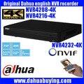 Original inglês firmware mais recente modelo onvif 1u nvr dahua 4 k 4 k rede video recorder dh-nvr4208-4k dh-nvr4216-4k dh-nvr4232-4k