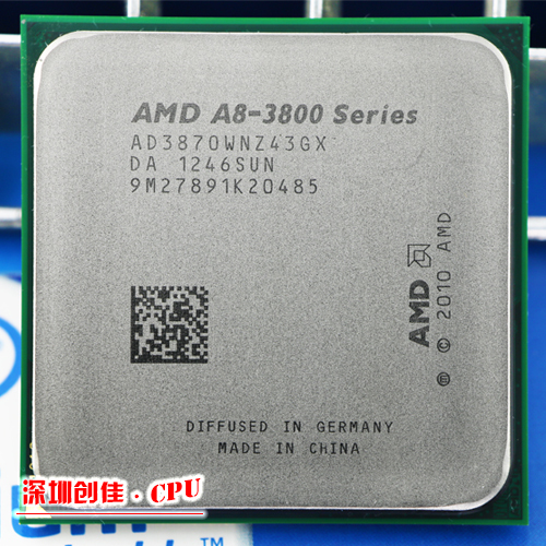 Free shipping AMD A8 3870K FM1 3.0GHz 4MB 100W CPU processor FM1 scrattered pieces A8-3870 APU Integrated graphics 3870