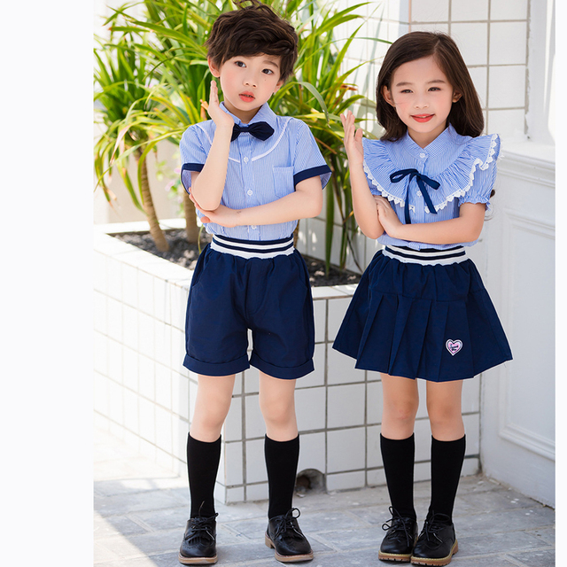 bf9bb275d2df England Style Brother Sister Clothes School Uniforms Twins Clothing Set  Family Matching Outfits Summer Suits two pieces set 2PCS