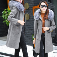 Ladies Girls Woolen Coat Autumn Winter Maternity Clothes Warm Maternity Women Jacket Long Style With Big