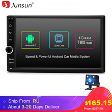 Junsun Quad Core 7″ 2 Din Android 6.0 Car DVD Radio Multimedia Player 1024*600 Universal GPS Navigation autoradio Stereo Audio