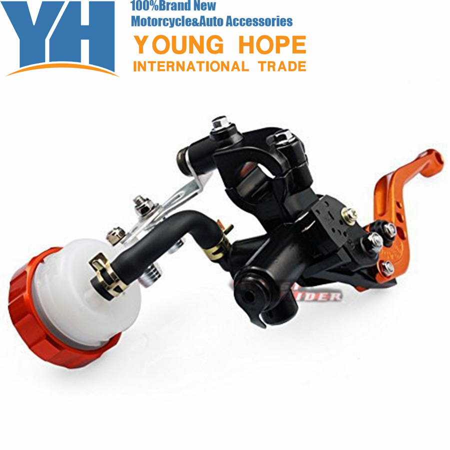 Free Shipping Orange Front Brake Clutch Short Levers Master Cylinder Fluid Reservoir Set Fit fits for TRIUMPH Street Triple 675