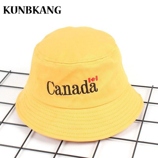 57d4af225ce55 New Canada Bucket Hat Embroidery Maple Leaf Hip Hop Panama Bob Cap Gorras  Men Women Summer Outdoor Bucket Cap Fishing Flat Hat