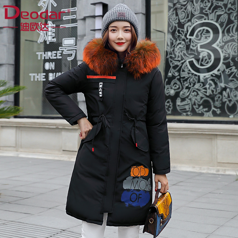 Deodar 2018 New Women Winter   Coat   New Fashion Hooded Thickening Super Warm Medium long Parkas Long Sleeve Big Size Jacket