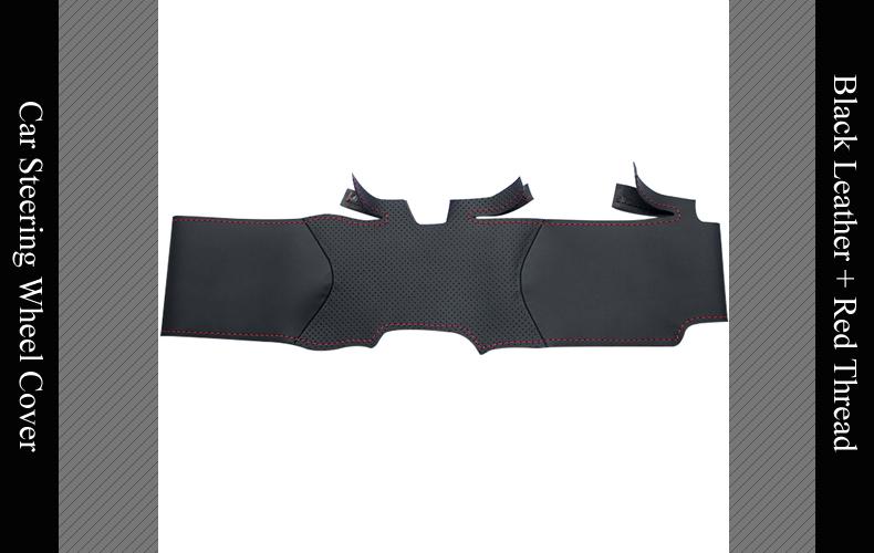 FLASH SALE] LQTENLEO Black Genuine Leather DIY Car Steering