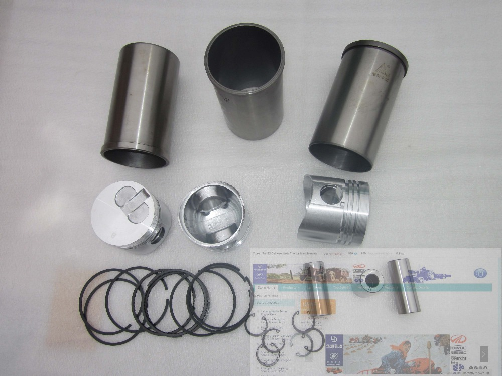Laidong KM385TE, set of piston group as picture showed, for the swirl chamber engine with EPA laidong km4l22t set of pistons with piston rings for one engine for the swirl chamber engine