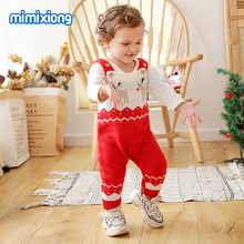 Baby Rompers For Kids Boys Girls Christmas Jumpsuits Autumn Sleeveless Knitted Newborn Bebes Onesie 0-24Months Children Overalls цена