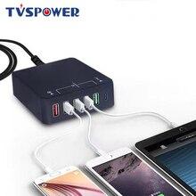 Быстрая зарядка нескольких USB 3.0 с быстрой Турбо-концентратор зарядное устройство 6 порт 5В 2.4 настольного компьютера мобильного телефона для iPhone Samsung Huawei и адаптер