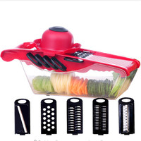 1Pc 5in1 Manuale Plastic Ginger Garlic Grinding Tool Magic Silicone Peeler Slicer Cutter Grater Planer Fruits & Vegetables Tools