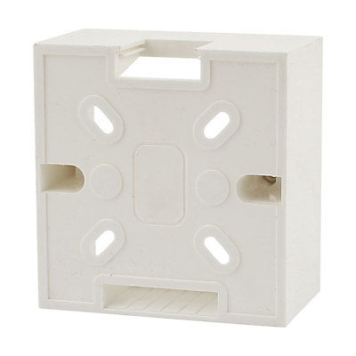 White PVC Single Gang Wall Switch Pattress Back Box 86mm x 86mm x 32mm цена
