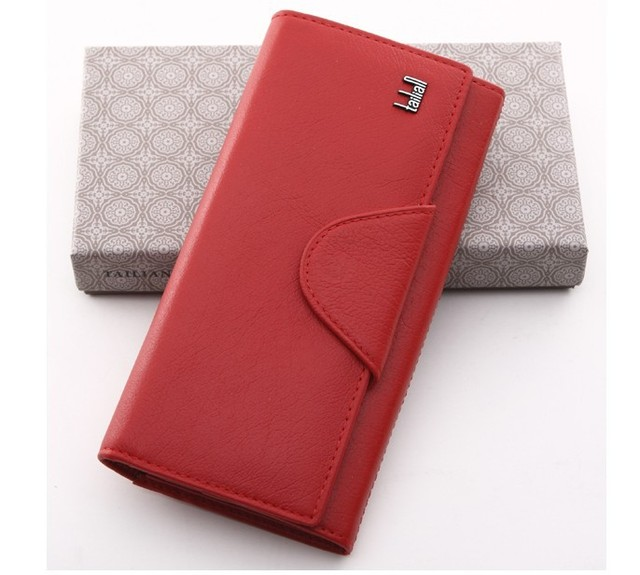 Long wallets for women 100% Genuine Cow Leather purse small  Leather clutch bags