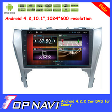"""Newly  10.1"""" Pure Android 4.2 Car Radio For Toyota Camry with GPS Free Map Radio Bluetooth Capacitive Touch Screen"""