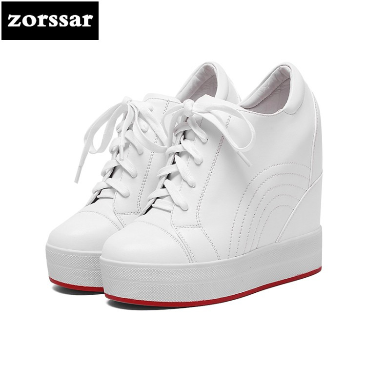 {Zorssar} Fashion sneaker boots women Wedges platform Shoes Genuine Leather Height Increasing Ankle Boots summer Female Shoes{Zorssar} Fashion sneaker boots women Wedges platform Shoes Genuine Leather Height Increasing Ankle Boots summer Female Shoes