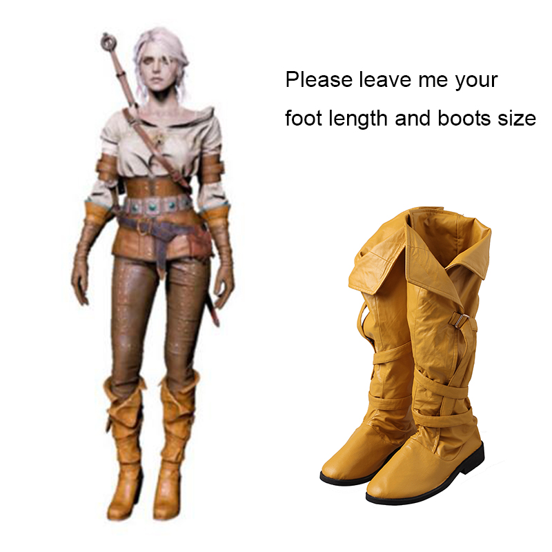 The Witcher 3 Wild Hunt Cirilla Cosplay Boots Adult Women Halloween Carnival Shoes Cosplay Costume Accessories Props Custom Made
