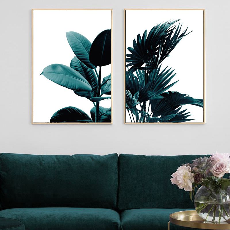 Nordic Modern Green Plant Canvas Painting Photography