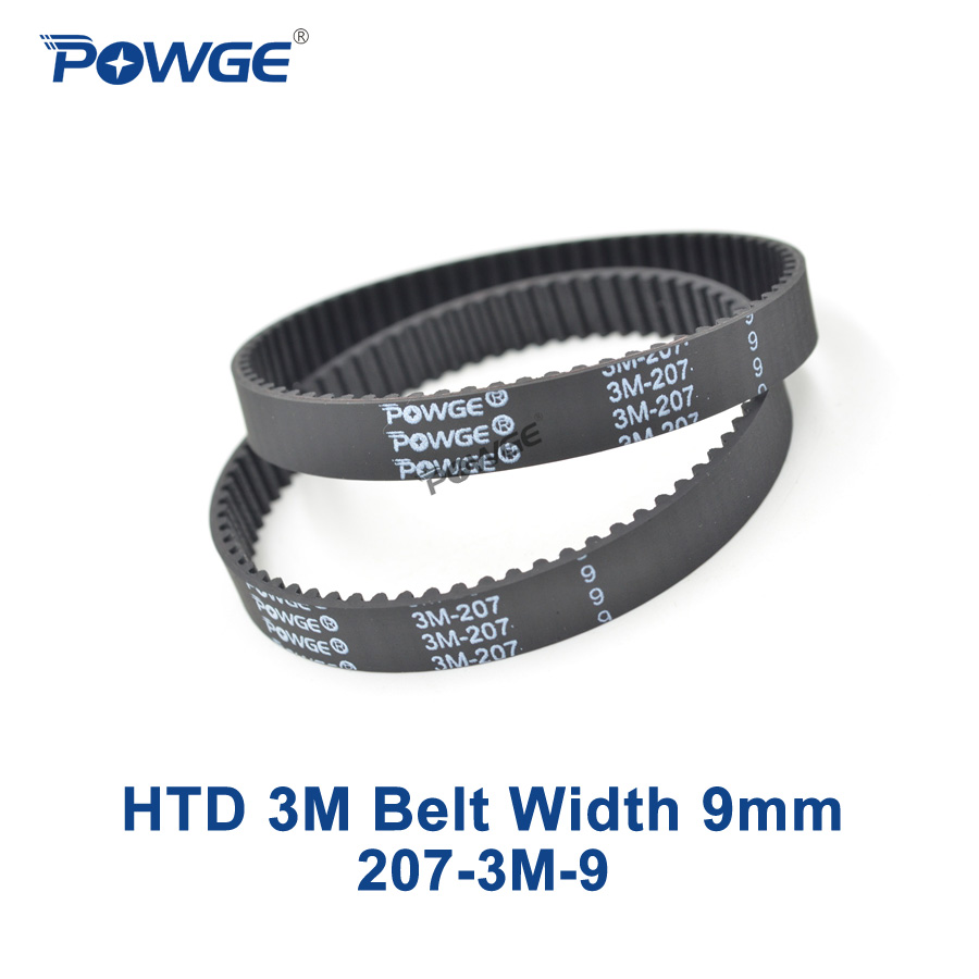 POWGE 2pcs HTD 3M Timing belt Pitch length 207 3M 9 width 9mm Teeth 69 Rubber HTD3M synchronous belt 207-3M-9 in closed-loop батарейки duracell lr03 8bl aaa 8 шт page 2