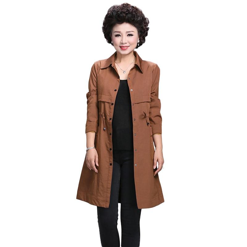 New Spring   Trench   Dress Women Fashion Elegant Casaco Feminino Slim Long Sleeve   Trench   Coat 2019 Plus Size Long Overcoat NW1205