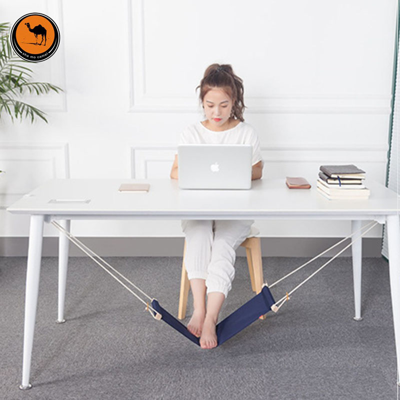 Creative Foot Hammock Lazy Artifacts Desk Study Rest Foot Put Feet Swing Put Foot Pad travel dedicated lazy people pedal foot rest for airplane high speed railway