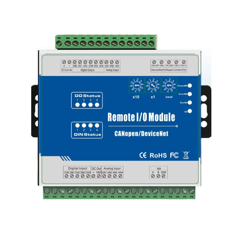4 Digital inputs & outputs DeviceNet Remote I/O Module Supports PWM inbuilt Watchdog with 2 channel analog outputs M120D new original 1746 ni4 plc 25ma 4 number of inputs analog i o modules
