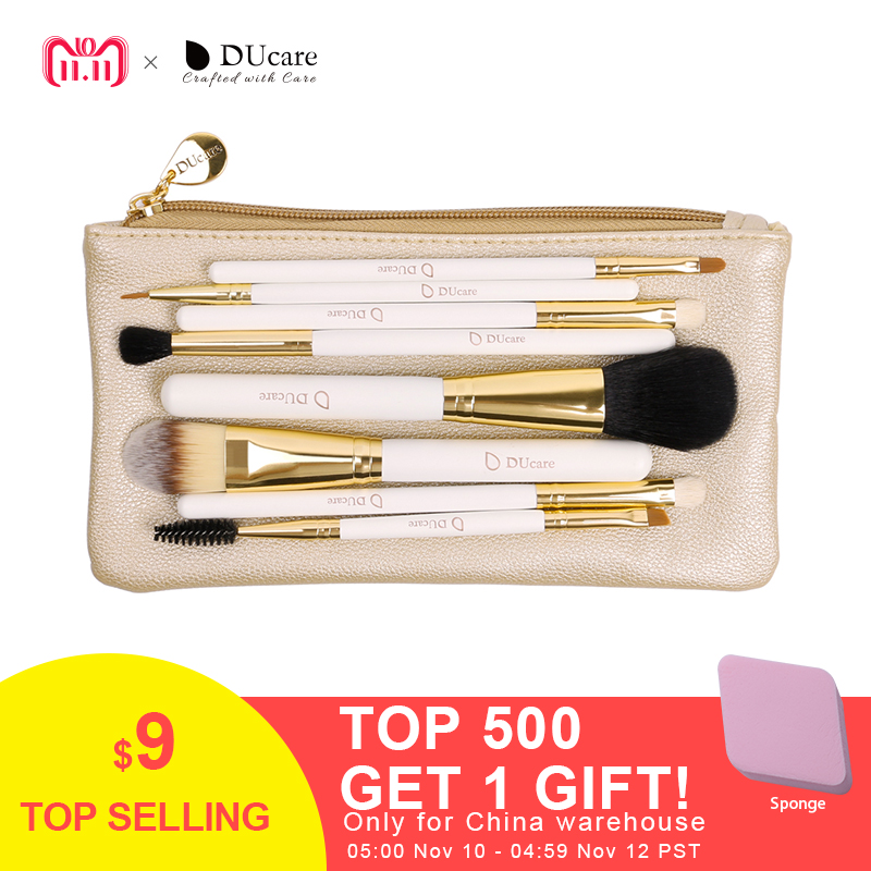 Juego de brochas de maquillaje profesional DUcare 8 piezas Kit de herramientas de maquillaje piezas de alta calidad con bolsa juego de brochas esenciales de belleza súper agradable