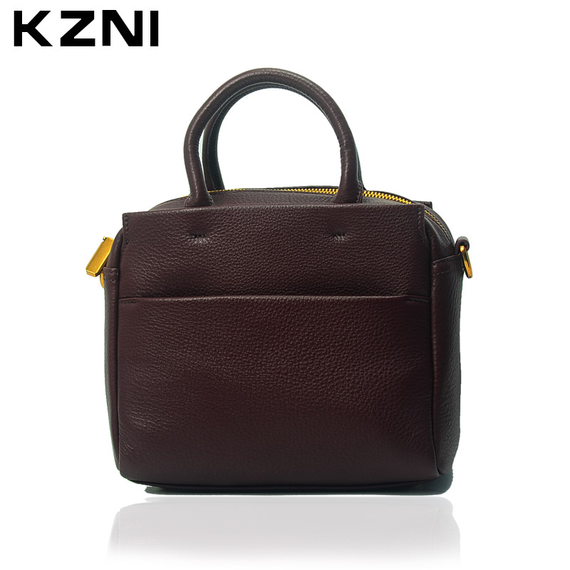 KZNI Womens Purses Crossbody Leather Summer Shoulder Clutch Tote Bag for Women Small Medium Size Sac a Main Femme De Marque 1395