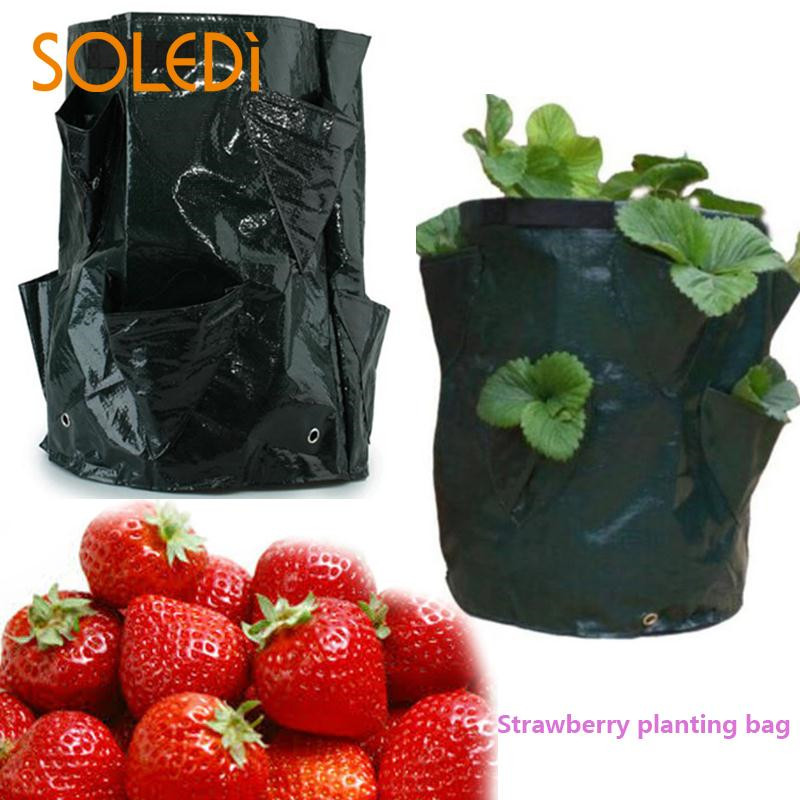 20181026Black Thickening Fabric Pot Plant Pouch Root Container Grow Bag Tools Garden Pots Planters Supplies baile