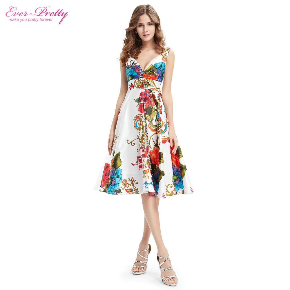 Cocktail Dresses Ever Pretty EP03381 2018 New Girl\'s Double V neck ...