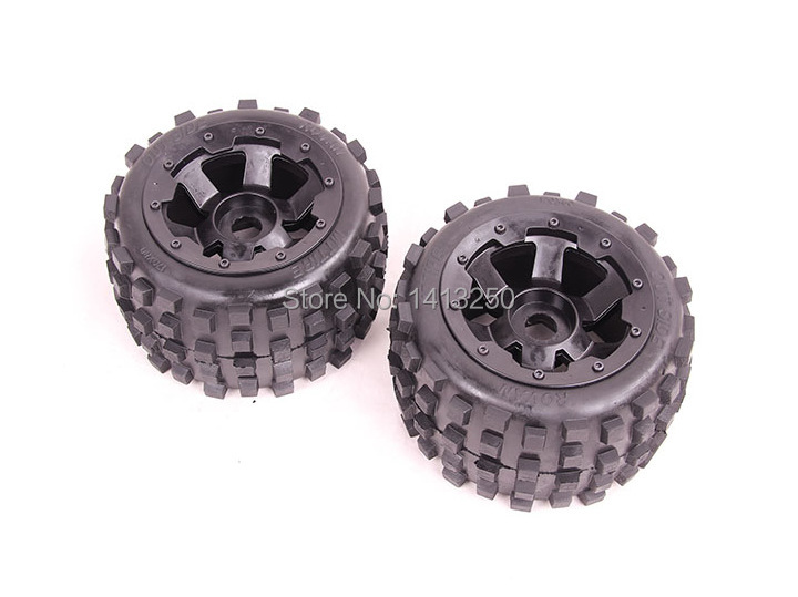 Knobby Wheel Set  x 2pcs for 1/5 hpi Baja 5B, SS main pump combination for gtb 4 wheel hydraulic brake set fit for 1 5 rc car hpi baja 5b ss
