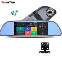 1080p 4G Touch ADAS Car DVR GPS Camera 6.86 Android Dash Cam Blutooth WIFI Video Auto Recorder Registrator Dual LENS camerra