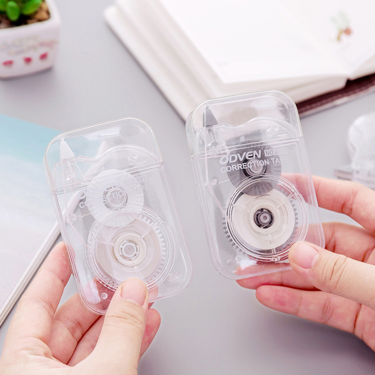 1PC  Stationery Office Student Supplies Transparent Correction Tape Cute Portable Push-type Correction Tape