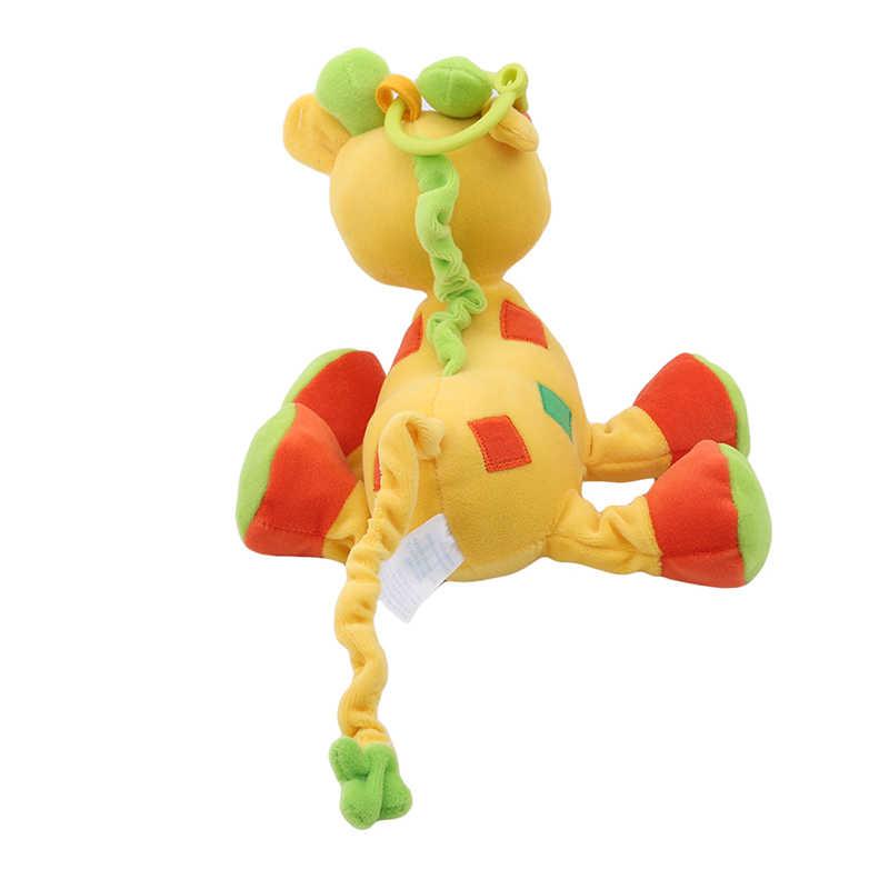 Animal dos desenhos animados de pelúcia fawn tigre infantil chocalhos bebê multi-funcional carrinho pendurado sino macio brinquedo móvel recheado