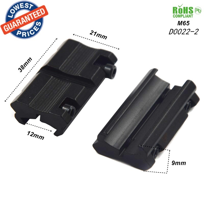 1pair M65 DIY Picatinny 12mm ke 21mm Standard Weaver Rail Mount Base Plane Bottom memburu 20mm Dovetail Weaver Picatinny