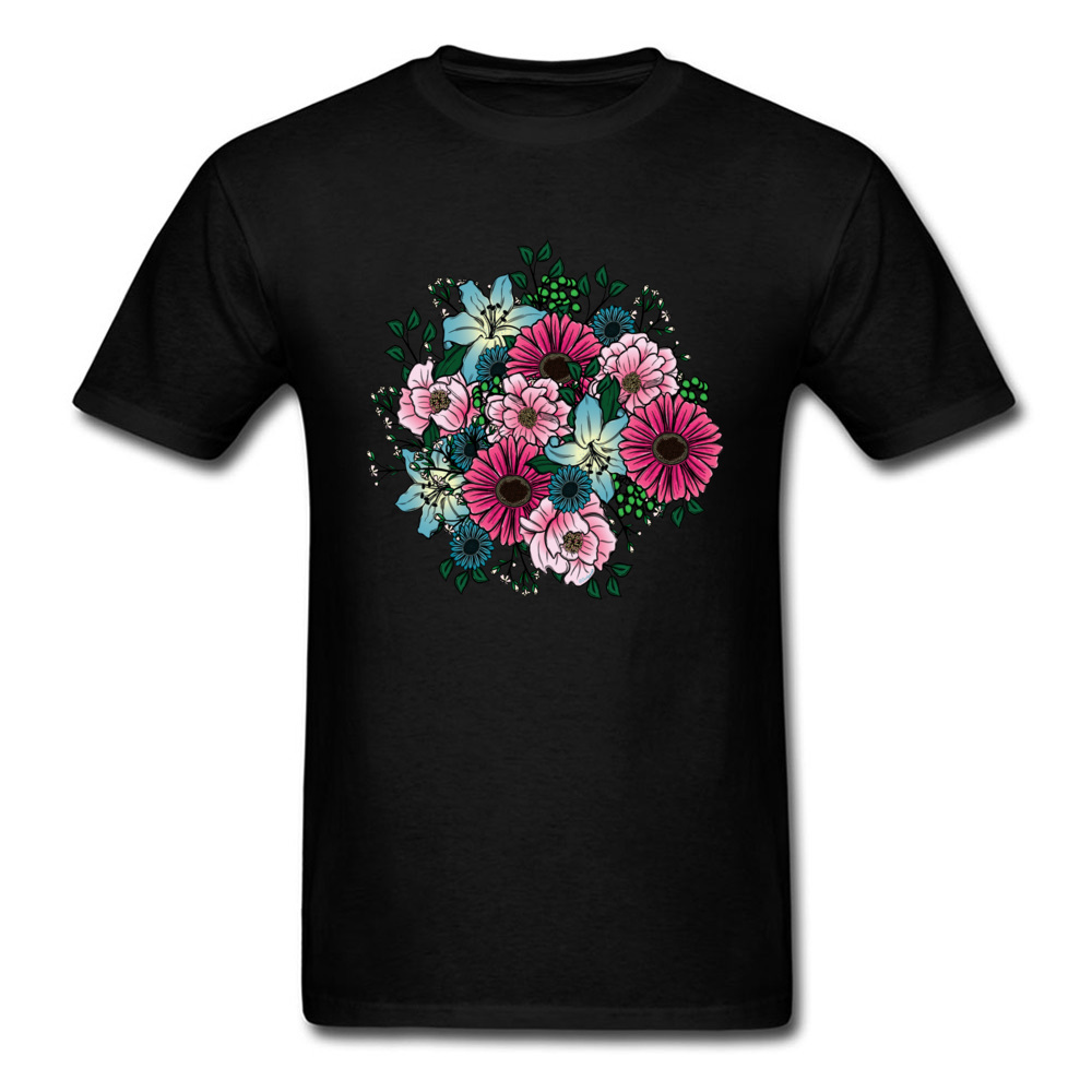 Bouquet Tshirts Valentines Day T-shirt Men T Shirt Woman Clothes Flower Floral Tops Lovers Gift Tees Custom Couple Match Shirts