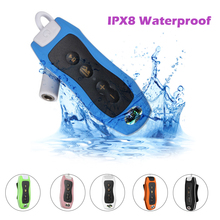 Mini Waterproof MP3 Player FM Radio 8GSwimming Diving Surfing IPX8  Outdoor Sport Music walkman digital mp3 player