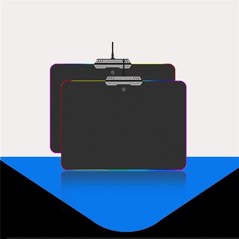 Lumière LED RGB tapis de souris de jeu PC souris rétro-éclairé tapis de Gamer éclairage bord tapis de souris avec commutateur tactile pour PUBG Dota LOL