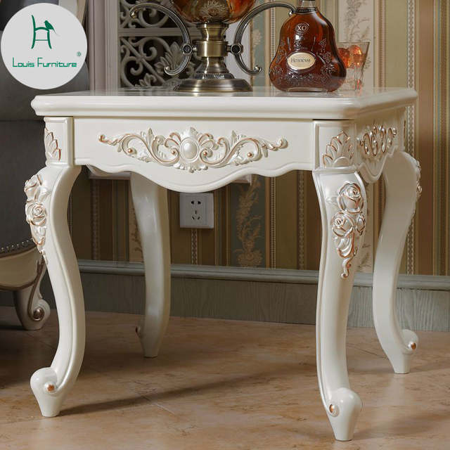 US $75.0 |Louis Fashion European Corner Table Tea Living Room Sofa Side  Cabinet Creative Carving Mini Simplified Small Square-in Coffee Tables from  ...