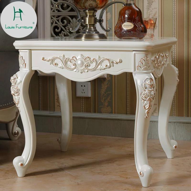 louis fashion table d angle europeenne salon canape meuble lateral sculpture creative petit carre simplifie